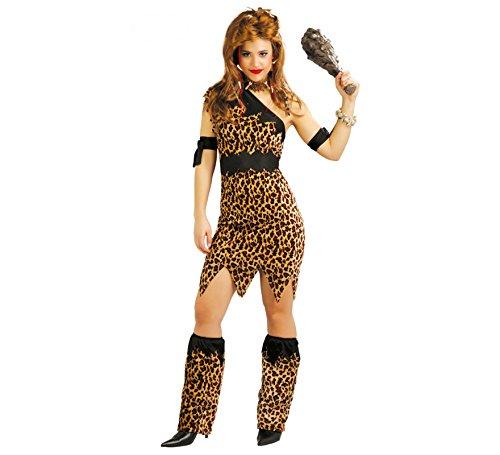 Höhlenfrau Leoparden Kostüm für Damen Gr. S-L,