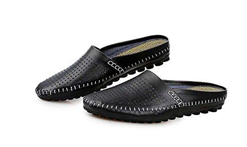 Onfly Männer Jungen Britischen Stil Geschlossene Zehe Beiläufig Hausschuhe Gehen Draussen Sandalen Wasser Schuhe Lässige Sneakers Black