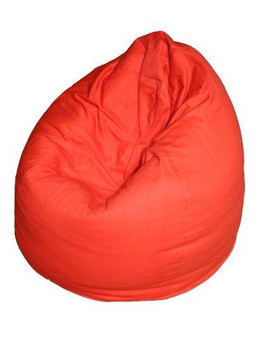 Kinzler S-10009/32 Sitzsack Billy, ca. Ø65 x H75 cm, klassische Tropfenform, Indoor, in vielen verschiedenen Farben, robuster Jeansstoff, rot