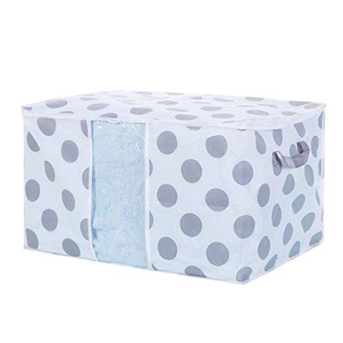 Bolsas de almacenaje cama Paellaesp Bolsa de almacenamiento plegable ropa manta edredón armario suéter caja organizador bolsas (C:60*43*36cm)