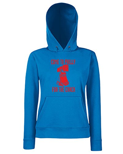 T-Shirtshock - Sweats a capuche Femme FUN0174 07 06 2013 Come to Philly T SHIRT det Bleu Royal