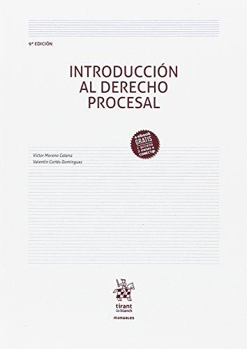 Introducción al Derecho Procesal 9ª Edición 2017 (Manuales de Derecho Procesal) por Victor Moreno Catena