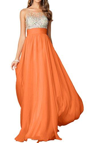 Missdressy - Robe - Taille empire - Femme Orange clair