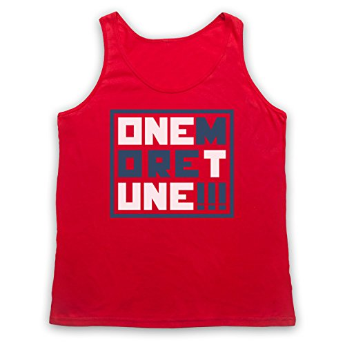 One More Tune Retro Gig Tank-Top Weste Rot