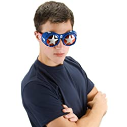 Fugarse de Capitán América gafas para la nieve gafas para hombre, rojo/broche de plata de/azul, talla única