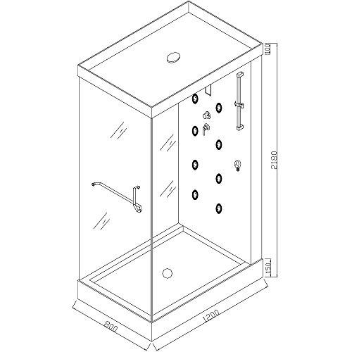 Home Deluxe Design M Duschtempel, inkl. Dampfdusche - 5