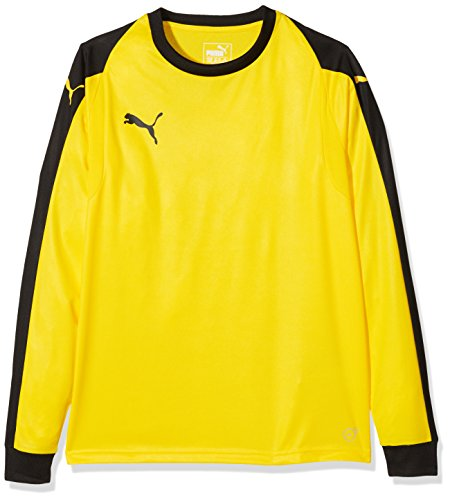 PUMA Kinder Liga Torwarttrikot, gelb (Cyber Yellow/Puma Black), 164