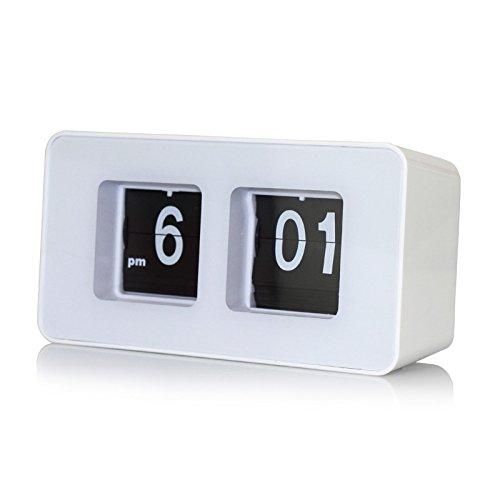 Preisvergleich Produktbild Bluelover Retro Flip Klassisch Stilvolle Schreibtisch Auto Moderne Clock - Weiß