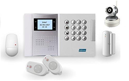 lgtron GSM Radio Alarma lgd8003con 868MHz Radio de seguridad Frecuencia de banda (llamada/SMS), con este P2P WIFI Cámara en, de alarma de este Alarma se esta Cámara Informa, Enviar correo electrónico con foto y vídeo grabación, una Complemento Ideal Para alarma, inmediata Live observar y hineinhören/hablar