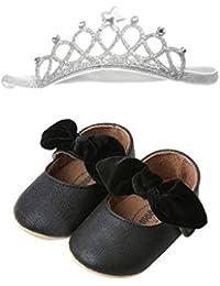 Leey Bimba Scarpe da Culla Neonato Bianco Primi Passi Scarpe Neonata  Ballerine Pantofole Morbide Bimba Scarpe 83289496d0e