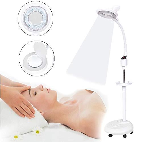 Lupenleuchte LED Lupenlampe 16X Vergrößerung Verstellbare Höhe Stehlampe Lupe Stehleuchte Kosmetiklampe Kosmetikleuchte Vergrößerungsglas - Verstellbarer Schwanenhals Stehlampe