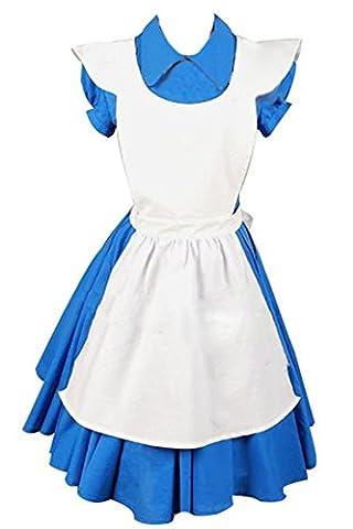Alice In Wonderland Movie Blue Alice Dreß Kleid Cosplay Kostüm L
