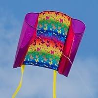 CIM Einleiner-Drachen - Beach Kite - für Kinder ab 3 Jahren - Abmessung: 70x47cm - inkl. 40m Drachenschnur und Streifenschwänze …