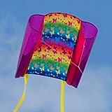CIM Einleiner-Drachen - Beach Kite BUTTERFLY - für Kinder ab 3 Jahren - Abmessung: 70x47cm - inkl. 40m Drachenschnur und Streifenschwänze