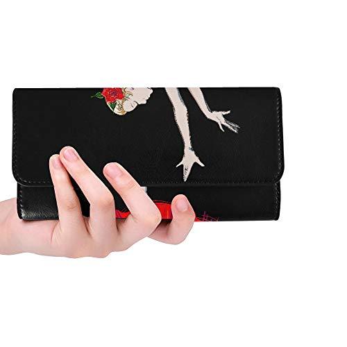 RFID Blocking Purse Monedero Largo para Mujer Bailarinas Elegantes para niñas Carteras...