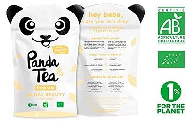 Panda Tea - Fresh Skin - thé bio - 28 sachets coton cousus main