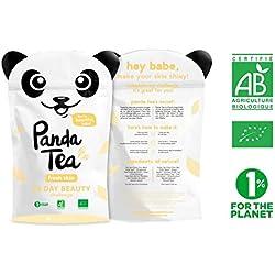 Panda Tea–Fresh Skin–Bio-Tee–28handgenähnte Baumwollbeutel