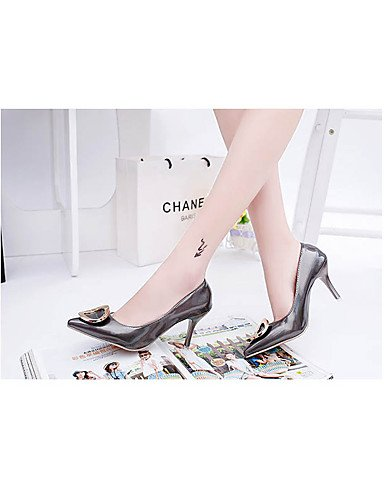 WSS 2016 Chaussures Femme-Mariage / Soirée & Evénement-Noir / Rose / Rouge / Blanc / Gris-Talon Aiguille-Talons-Talons-Cuir Verni white-us6 / eu36 / uk4 / cn36