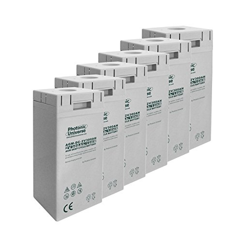 Este banco de baterías de 12 V y 300 Ah cuenta con 6 pilas de 2 V, que ofrecen ventajas importantes sobre los bancos de baterías de 12 V. Los beneficios de las baterías de 2V incluyen: - Durabilidad significativamente mejorada: estas baterías de 2 V ...