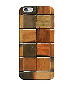 FUSON Designer Back Case Cover for Apple iPhone 6S (Seamless Pattern Blue Design Drawing )