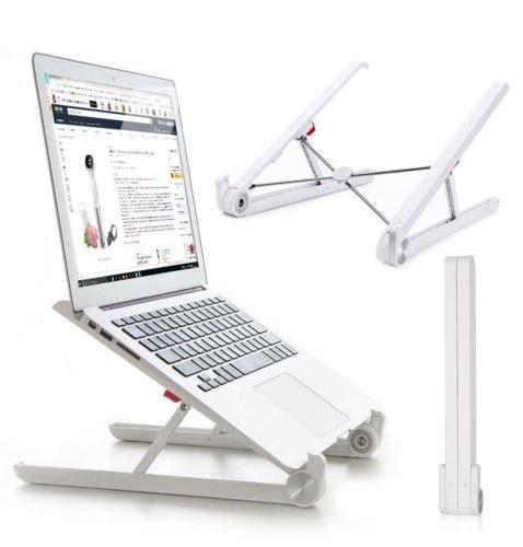 Laptop stand -Soporte ergonómico de aluminio para laptop - Soporte fijo y portátil para computadora portátil - Soporte para PC y MacBook - Viaje de negocios