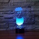 Fyyanm 7 Farbwechsel 3D Visuelle Acryl Niedliche Schafe Modellierung Nachtlicht Schreibtischlampe Led Cartoon Leuchte Kinder Geschenke Wohnkultur