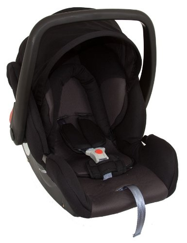 United Kids 101255 Babyschale Protect, Gruppe 0, 0-13 kg, schwarz / grau