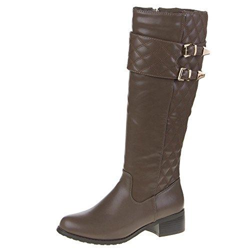 Damen Schuhe, QQ-21, STIEFEL Braun