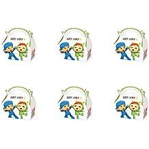 ALMACENESADAN 0652, Pack 6 cajitas de Carton para chuches Pocoyo y Nina, para Fiestas