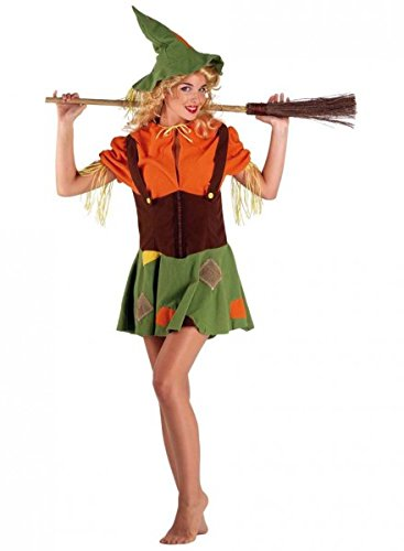 Vogelscheuche Kostüm Scarecrow mit Hut Damenkostüm, (Ideen Vogelscheuche Outfit)