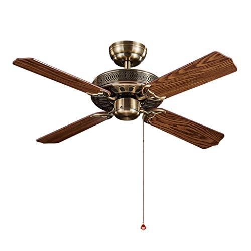 WangLei Ventilador de techo europeo sin luces ventilador de techo antiguo ventilador...