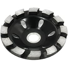 Sourcingmap a13070800ux0280 - El tono de plata negro de 100 mm de diámetro de mampostería de piedra de diamante discos abrasivos para pulir