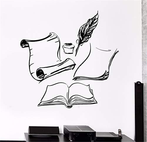 Wandaufkleber Kinderzimmer wandaufkleber 3d Books Ink Letter Writer Nib Sticker Wall Art Decal for living room bedroom boys bedroom