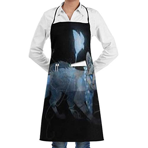 Drempad Schürzen Amazing Lovely Animals Adjustable Apron with Pocket & Extra-Long Ties, Men and Women Kitchen Apron for Cooking, Baking, Crafting, Gardening, BBQ -