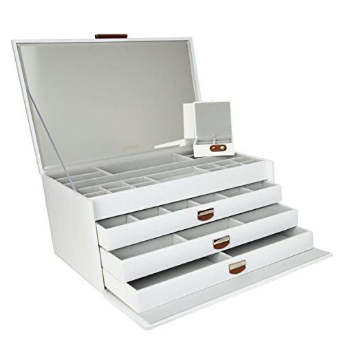 Dulwich-Designs-Extra-grande-Premium-piel-regenerada-Joyero