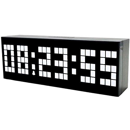Lambtown led di allarme elettronico orologio orologio da parete di grandi dimensioni digitale con conto alla rovescia data temperatura - bianco