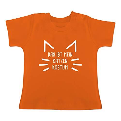 g Baby - Das ist Mein Katzen Kostüm - 1-3 Monate - Orange - BZ02 - Baby T-Shirt Kurzarm ()