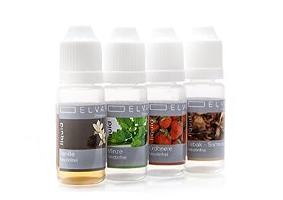 Elvapo Premium Plus E-LIQUID - mit extra starkem Geschmack - alle Geschmacksrichtungen (10ml / 50ml) für E-Zigaretten und E-Shishas - Made in Germany - 0,0 mg Nikotin von Elvapo