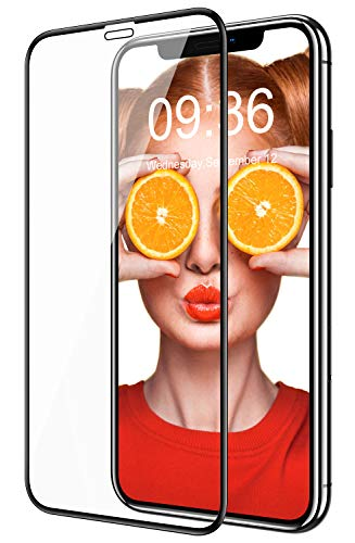Bovon Verre Trempé pour iPhone 11, [Cadre d'Installation Facile] [sans Bulles] [9H Dureté] [Anti-Rayures] 3D Couverture Complète Film Protection Écran pour iPhone 11 6.1 Pouces (2019)