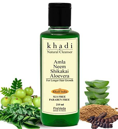 PreVeda® Khadi Amla Neem Shikakai Aloevera Premium, Natural, Herbal & Ayurvedic Shampoo Best hair Cleanser Sls & Paraben Free