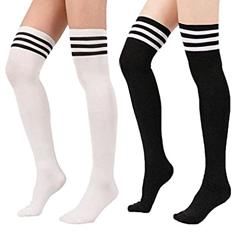 Costumes Black Cheerleader Halloween - Zando - Collants - Femme 2Pairs-Black/White taille