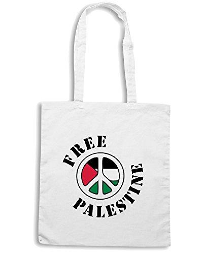 T-Shirtshock - Borsa Shopping TM0564 free palestine design Bianco