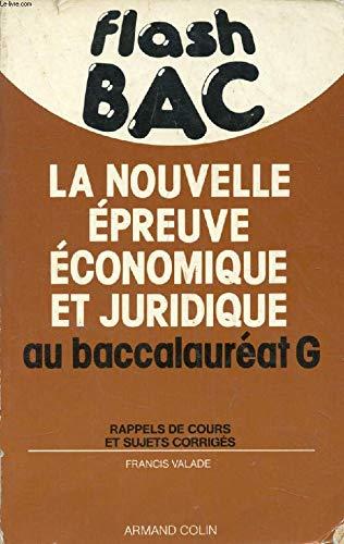Épreuve économique et juridique au baccalauréat G