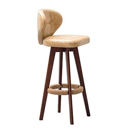 HYZ Atmospheric Fashion Bar Chaise/Tabouret Chair Pratique À Manger Chaise , Vintage en Bois Massif Rotable Café Tabouret Haut,* 02