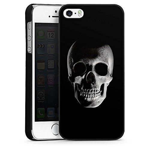 Apple iPhone 5s Housse Étui Protection Coque Crâne Crâne Pirates CasDur noir