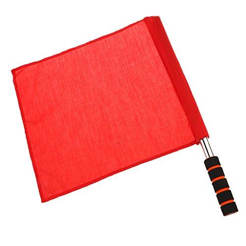 Baoblaze Schiedsrichter Flagge Fahne Fußball Marathon Dauerlauf Langstreckenlauf Flagge - Rot -