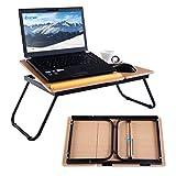COSTWAY Laptoptisch Betttisch Notebooktisch Notebook Laptop Betttablett Arbeitstisch Tisch faltbar Lapdecks