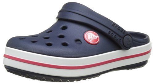 crocs Unisex-Kinder Crocbandclogk Clogs, Blau (Navy/Red), 34-35 EU