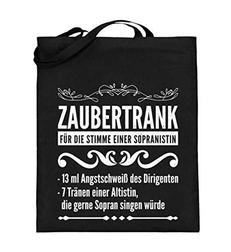 Zaubertrank für Sopran Sängerin Chor - Jutebeutel (mit langen ()