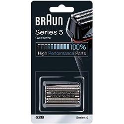 Braun Pièce de Rechange 52B Noire pour Rasoir Compatible avec les Rasoirs Series 5